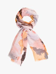 Chesca Voile Abstract Print Scarf Blush