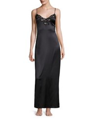 La Perla Floral Vibes Silk Blend Nightgown Black