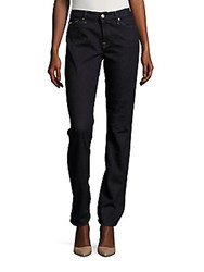7 For All Mankind Karah Straight Fit Jeans Dark Onyx Sky