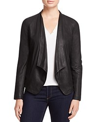 Bb Dakota Wyden Harper Draped Leather Jacket Black