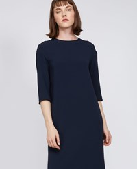 Aspesi Cady Long Sleeve Dress Navy Blue