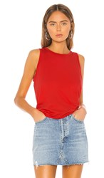 Lamade La Made My Way Tank In Red. Flame Scarlet