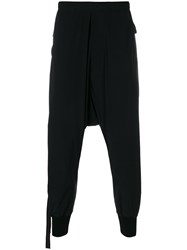 Unravel Project Dropped Crotch Track Pants Black
