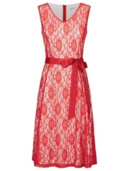 Kaliko Contrast Lining Dress Bright Red