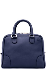 Loewe 'Amazona 75' Leather Satchel Blue Marine