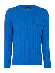 Howick Sanford Cable Crew Jumper Powder Blue