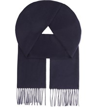 Johnstons Classic Cashmere Scarf Navy