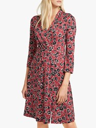 French Connection Aubi Floral Wrap Dress Rosso Red Multi