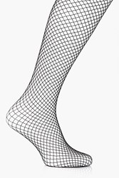Boohoo Imogen Medium Diamond Fishnet Tights Black
