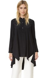 Maiyet High Low Caftan Shirt Black