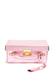 Mark Cross Grace Small Grained Leather Box Bag Pink