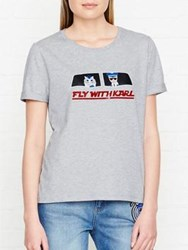 Karl Lagerfeld Fly With T Shirt Grey