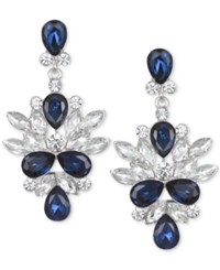 Jewel Badgley Mischka Crystal And Stone Drop Earrings Silver