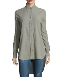 Frame Le Tunic Cotton Shirt Military