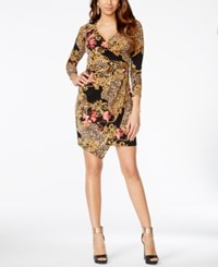Thalia Sodi Printed Embellished Wrap Dress Only At Macy's