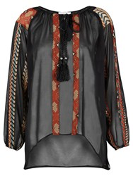 Nougat London Boho Blouse Black