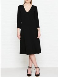 Jigsaw Flared Sleeve Midi Dress Black