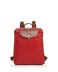 Longchamp Le Pliage Backpack Burnt Red Gold