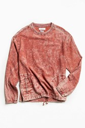 Urban Outfitters Uo Woven Crew Neck Popover Shirt Rust