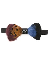 Cor Sine Labe Doli Feather Bow Tie Black