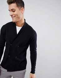 Selected Homme Double Breasted Cardigan Black
