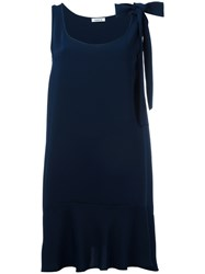 P.A.R.O.S.H. Ruffled Shift Dress Blue