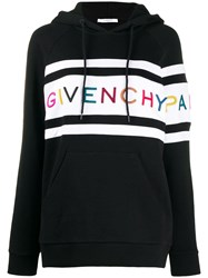 Givenchy Embroidered Logo Hoodie Black