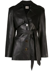 Khaite Belted Trench Coat Black