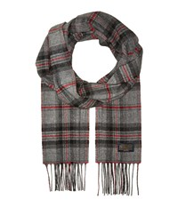 Pendleton Park Plaid Whisperwool Muffler Grey Plaid Scarves Multi