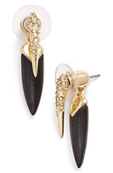 Women's Alexis Bittar 'Lucite Metal' Spike Ear Jackets Black