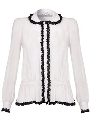 Ghost Lila Georgette Blouse Winter White