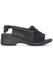 Camper Ribbed Trim Sandals Black