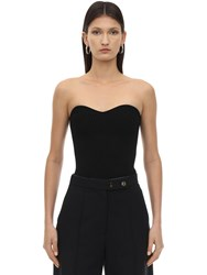 Khaite Lucie Ribbed Jersey Top Black