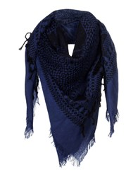 Diesel Square Scarves Dark Blue