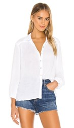 Michael Stars Carrie Button Down In White.