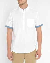 Tommy Hilfiger White End On End Short Sleeve Shirt