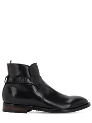 Officine Creative Emory Buckled Leather Boots Black