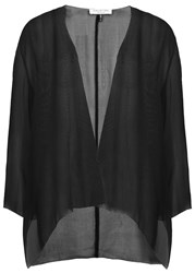Halston Black Silk Chiffon Jacket