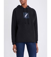 Stussy Squared Raw Edge Jersey Hoody Black