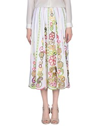 Moschino Cheap And Chic 3 4 Length Skirts White