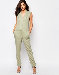 Supertrash Wensando Jumpsuit In New Army Green