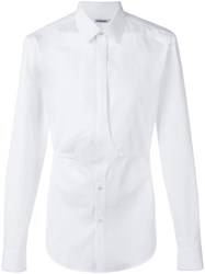 Chalayan Button Belt Shirt White