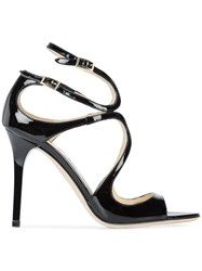 Jimmy Choo Lang Sandals Leather Black