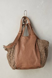 Anthropologie Noda Woven Satchel Taupe