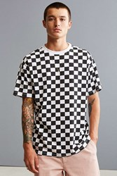 Urban Outfitters Uo Checkerboard Tee Black And White