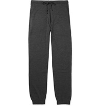 John Smedley Decagon Merino Wool Sweatpants Gray