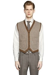 Boglioli Wool And Silk Blend Sweater Vest