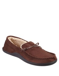 Isotoner Microsuede Sherpasoft Boater Moccasins Brown