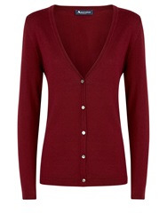 Aquascutum London Bramble Cardigan Purple