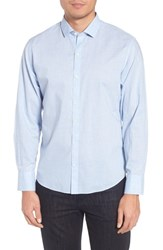 Zachary Prell Mcgarry Gingham Sport Shirt Light Blue